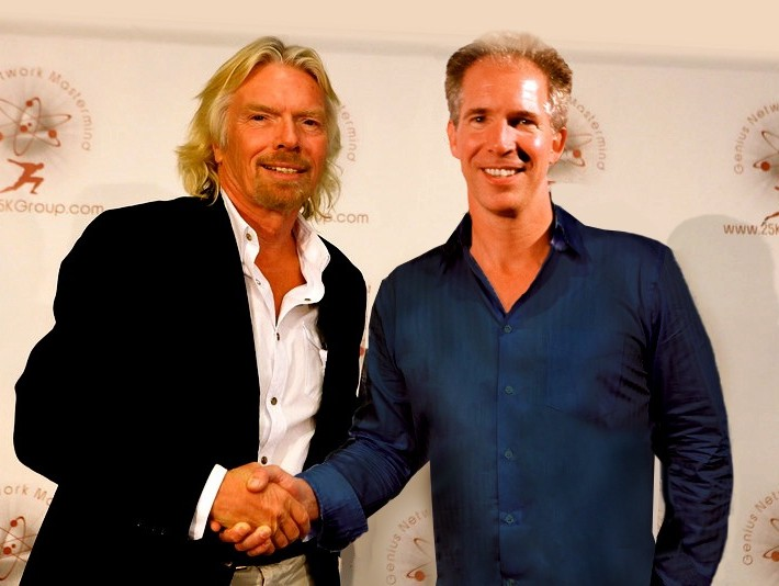 Sir Richard Branson and David Jensen